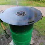 Komplett Set Feuerplatte 80cm + VA Grilleinsatz + Abstandshalter Plancha #20B photo review